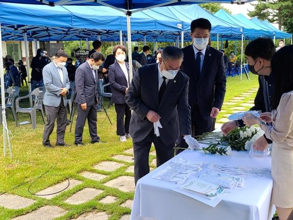 7일 필경사에서 심훈 선생 85주기 추모제 개최 모습